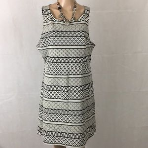 Apt 9 Sleeveless Black White Geometric Print Dress